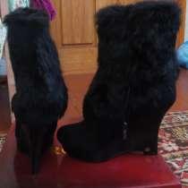 Женские зимние ботинки, натуральный замш, мех, в г.Винница