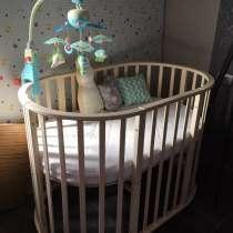 Детская кроватка трансформер с матрасиком, в Севастополе