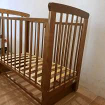 Кровать детская качалка + матрас (в пленке), в Волгограде