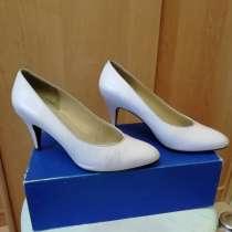 Туфли женские 37 р на каблуке из натуральной кожи, в Иркутске