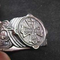 Перстень мужской, серебряный, православный, новый. 21 размер, в Саратове