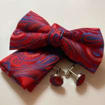 Набор джентльмена (бабочка+платок+запонки), в Уфе