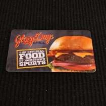 Пластиковая подарочная карта ресторана Glory Days grill, в Москве