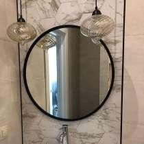 Скандинавское круглое зеркало Svart 90 в тонкой раме, в г.Минск