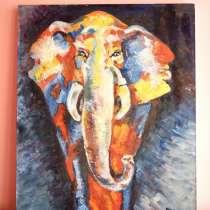 Картина маслом на холсте Слон, в Краснодаре