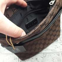 Мужская коричневая сумка GUCCI, в Санкт-Петербурге