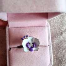 Серебряное кольцо орхидея фаленопсис, в Москве