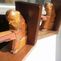 Резьба по дереву: статуэтки Монахи деревянные БУКЭНДЫ Чехия, в Москве