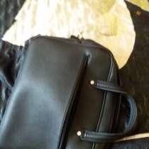 Кожанная черная сумка, в Москве