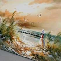 У моря, 60х90см, Картина маслом на холсте, Художник, в Москве