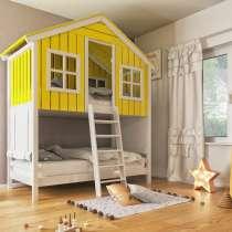 Двухъярусная кровать-домик из сосны. На заказ, в Москве