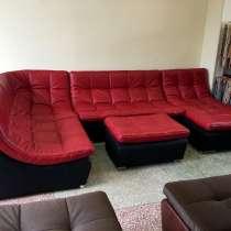 Кожаный модульный диван в стиле red&black, в Москве