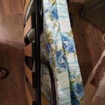 Раскладушка с матрасом на ламелях 1спальное, в Москве