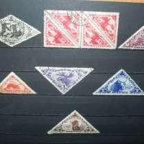 Подборка из 6-ти гашёных марок и пары тет-бешей Тувы, в Красноярске
