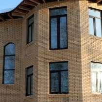 Облицовка фасадов кирпичом, в г.Астана