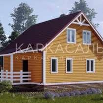 Каркасный Дом под ключ 8х8м по проекту Сарния, в г.Жлобин