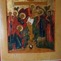 Старинный храмовый образ «Снятие с креста». Россия, XIX век, в Санкт-Петербурге