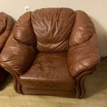 Продам мягкую мебель из натуральной кожи, в Новосибирске