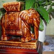 Лакированная керамическая статуэтка. Сур - слон Ганнибала, в Красноярске