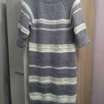 Платье-туника, ручная вязка спицами, в Москве