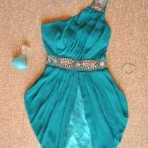 Великолепное изумрудное платье-коктейль на одно плечо, в г.Винница