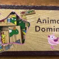 Домино детское animal в деревянной коробке, в г.Алматы