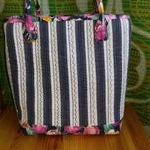 Текстильная сумка в полоску, в Новосибирске