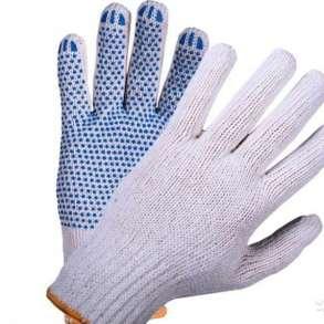 Перчатки рабочие хлопчатобумажные 4-нити с ПВХ, в Нижнем Новгороде