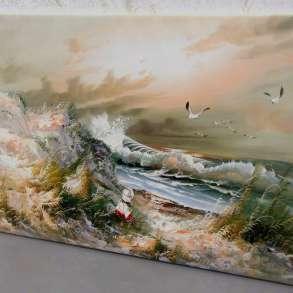 Девочка у моря, 60х90см, Картина маслом на холсте, в Москве