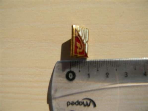 Значок. USSR (серп и молот, звезда). латунь, горяч. эмаль, П