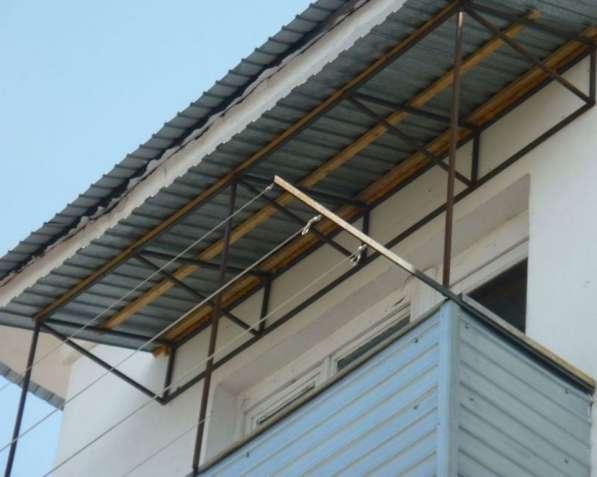 Установлю козырек на балкон в фото 4