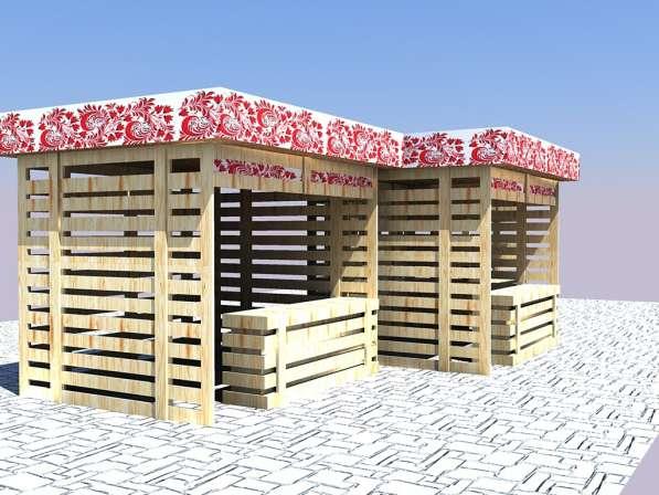 Изготавливаем деревянные ярмарочные домики в Ростове-на-Дону фото 8