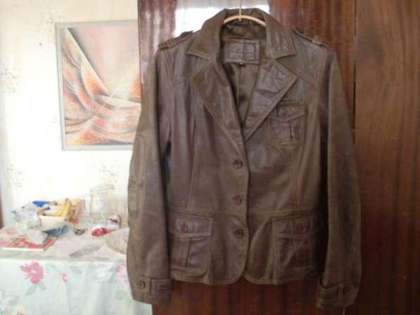 Женская кожанная куртка-френч(привозная) в Москве фото 3