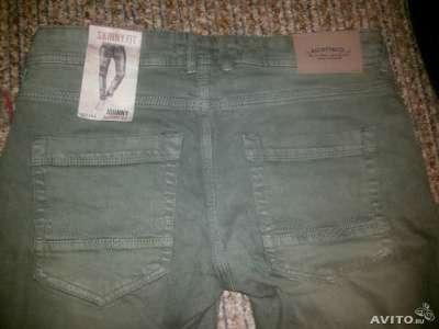 Модные молодежные узкие джинсы