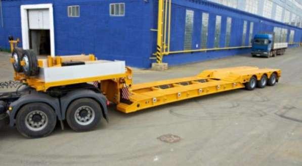 Трал для асфальтоукладчика 50 тонн с передним заездом