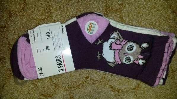 Новые носочки 3 пары 5-7 лет