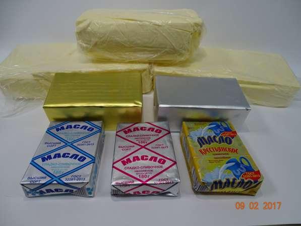 Масло сливочное, спред, маргарин, молочные продукты