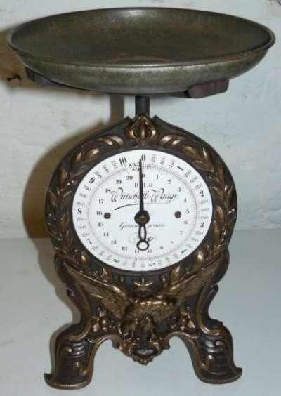 Старинные кухонные весы, Германия, 1890 Фирма Steinfeldt & Bl