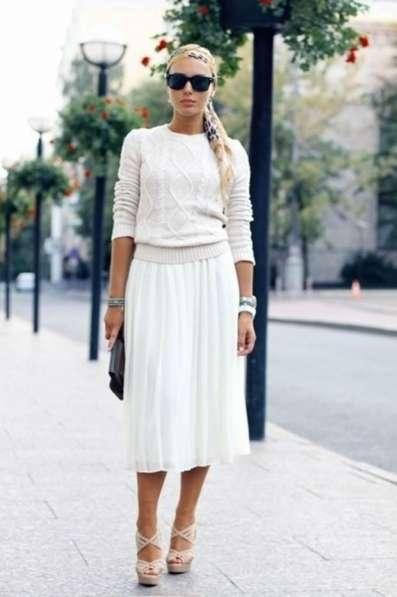 Макси юбка из льна