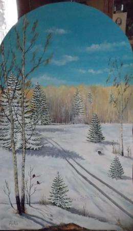 Зима. Лыжня