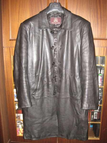 Пальто кожаное мужское