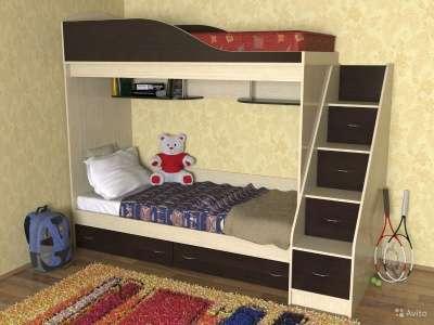 детская двухъярусная кровать сказка