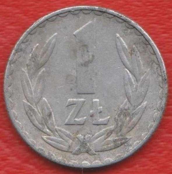 Польша 1 злотый 1975 г. без знака мондвора