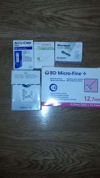 Иглы инсулиновые для шприц-ручек,тест полоски для глюкометра