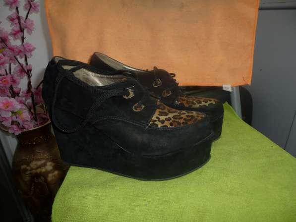туфли на платформе черные размер 39