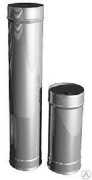 Труба для дымохода, нержавейка d 115мм, L 1,0м, толщина стен