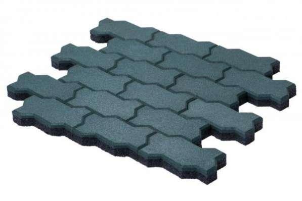 Продаётся резиновая брусчатка Волна от производителя для благоустройства территорий.