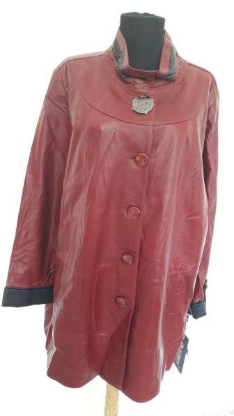 Кожанная куртка, удлиненная