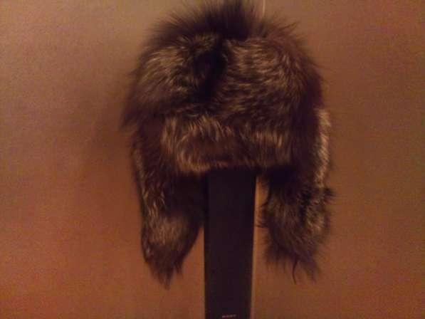 Продам шапку-ушанку из чернобурки новая
