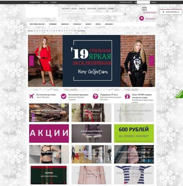 Интернет-магазин одежды (чист. прибыль 150-350 т. р)
